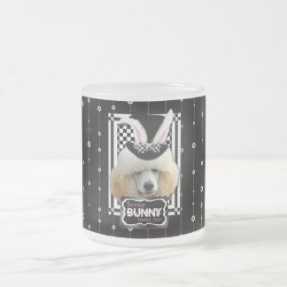 Easter - Some Bunny Loves You - Poodle - Apricot Frosted Glass Mug