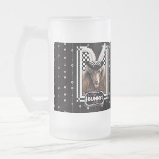 Easter - Some Bunny Loves You - Poodle - Chocolate Frosted Glass Mug