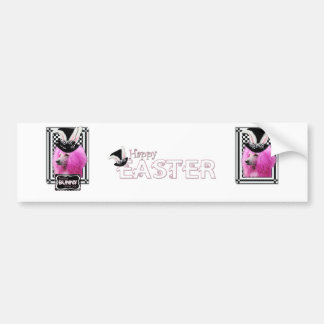 Easter - Some Bunny Loves You - Poodle - Pink Car Bumper Sticker