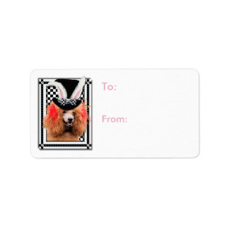 Easter - Some Bunny Loves You - Poodle - Red Address Label