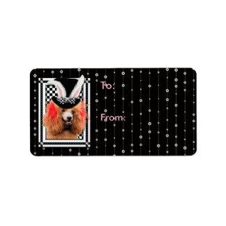 Easter - Some Bunny Loves You - Poodle - Red Address Label