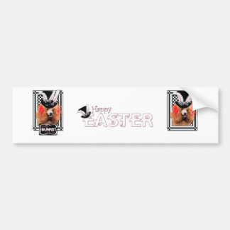 Easter - Some Bunny Loves You - Poodle - Red Bumper Sticker