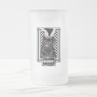 Easter - Some Bunny Loves You - Pug Ruffy Frosted Glass Mug