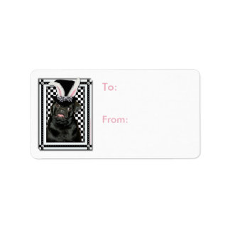 Easter - Some Bunny Loves You - Pug Ruffy Address Label
