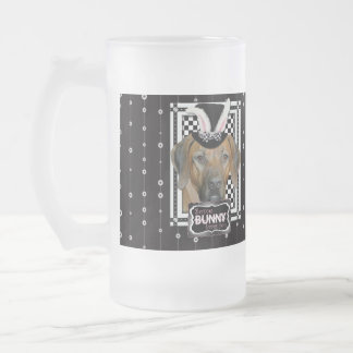 Easter - Some Bunny Loves You  Rhodesian Ridgeback Frosted Glass Mug