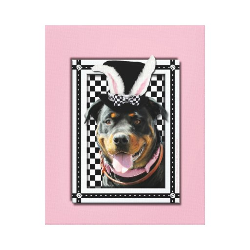 Easter - Some Bunny Loves You - Rottweiler Canvas Prints