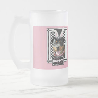 Easter - Some Bunny Loves You - Rottweiler Frosted Glass Mug