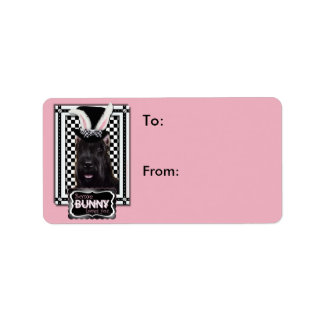 Easter - Some Bunny Loves You - Schnauzer Address Label