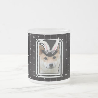 Easter - Some Bunny Loves You - Shiba Inu Frosted Glass Mug