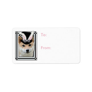 Easter - Some Bunny Loves You - Shiba Inu Address Label