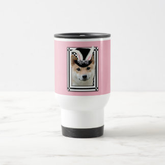 Easter - Some Bunny Loves You - Shiba Inu Stainless Steel Travel Mug