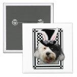Easter - Some Bunny Loves You - Tibetan Terrier Button