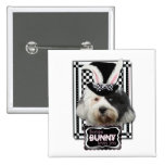 Easter - Some Bunny Loves You - Tibetan Terrier Pinback Buttons