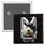 Easter - Some Bunny Loves You - Tibetan Terrier Pinback Button
