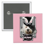 Easter - Some Bunny Loves You - Tibetan Terrier Buttons