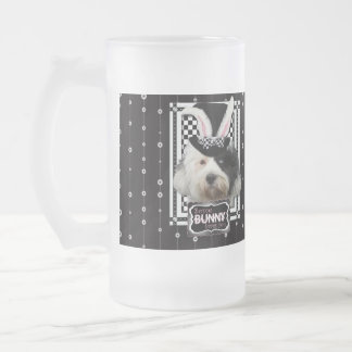 Easter - Some Bunny Loves You - Tibetan Terrier Frosted Glass Mug