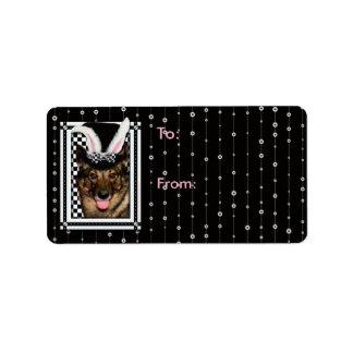 Easter - Some Bunny Loves You - Vallhund Address Label