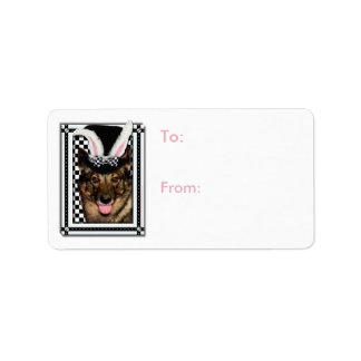 Easter - Some Bunny Loves You - Vallhund Address Label