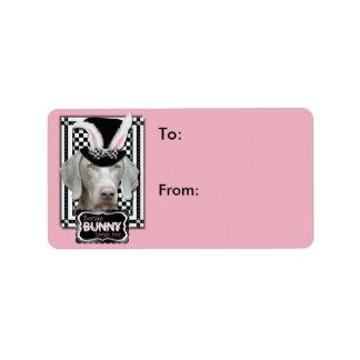 Easter - Some Bunny Loves You - Weimaraner Address Label