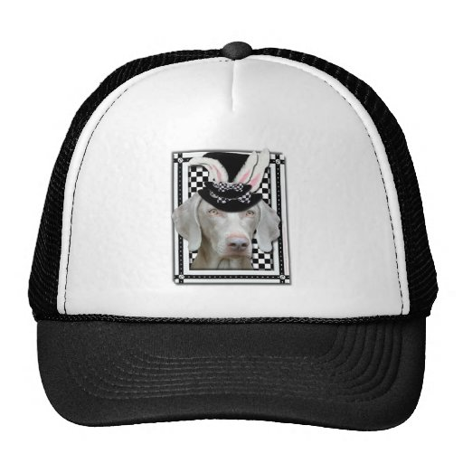 Easter - Some Bunny Loves You - Weimaraner Mesh Hats