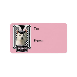 Easter - Some Bunny Loves You - Westie Address Label