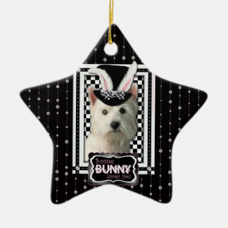 Easter - Some Bunny Loves You - Westie Christmas Ornament