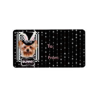 Easter - Some Bunny Loves You - Yorkie Address Label
