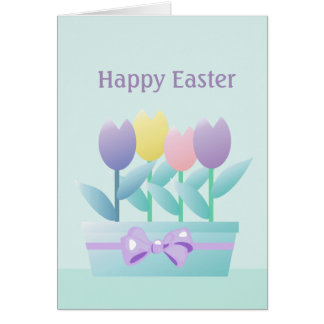 Easter Spring Tulips Floral Greeting Card