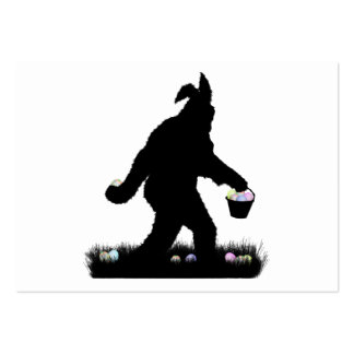 Easter Squatch with Bunny Ears Business Card