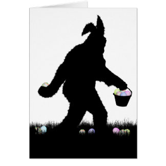 Easter Squatch with Bunny Ears Card