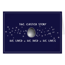 Christian easter gifts gift ideas zazzle uk easter story christian easter card negle Images