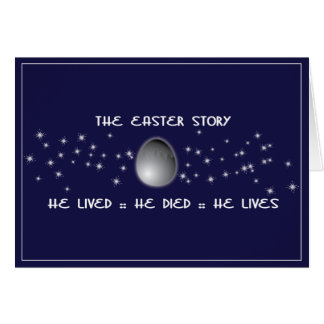 Easter Story Christian easter card