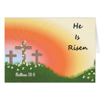 Easter Sunrise Celebration Scripture Verse Card