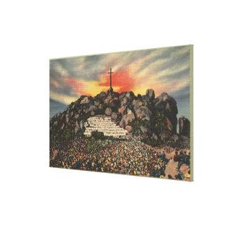 Easter Sunrise Service on Mt. Rubidoux Canvas Print