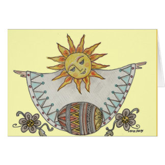 Easter Sunrise Ukrainian Folk Art Card