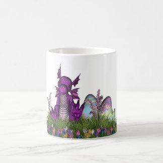 Easter Surprise Baby Dragon Basic White Mug