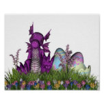 Easter Surprise Baby Dragon Poster