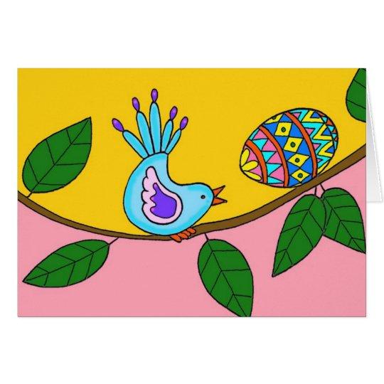 Easter Surprise Ukrainian Folk Art Card