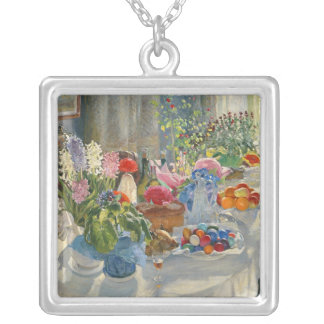 Easter Table Silver Plated Necklace