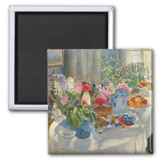 Easter Table Square Magnet