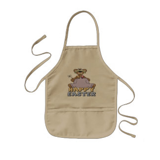 Easter Teddy Bear T shirts and Gifts Kids Apron
