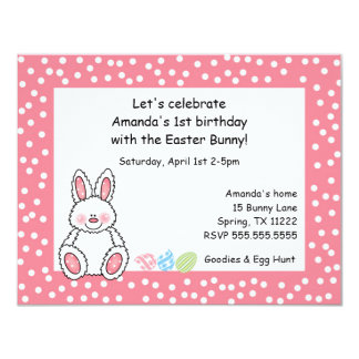 Easter theme birthday party invitation GIRL