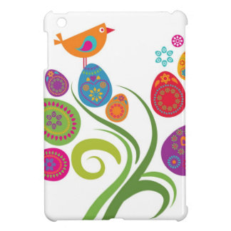 Easter tree with colored eggs and flowers case for the iPad mini