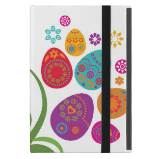 Easter tree with colored eggs and flowers cover for iPad mini