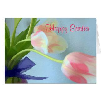 Easter Tulip Greetings Card