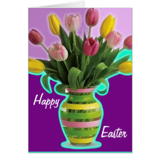 Easter Tulips - Happy Easter Card