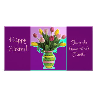 Easter Tulips - Happy Easter Card Picture Card