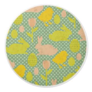 Easter Wallpaper Ceramic Knob