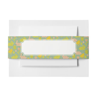Easter Wallpaper Invitation Belly Band