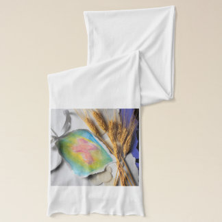 Easter Water Color Christian Cross Sketch Scarf